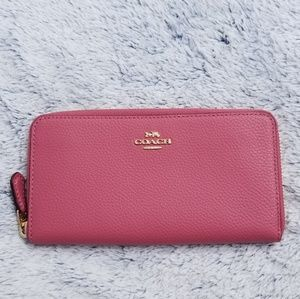 🍒NWT🍒 COACH SALMON PINK LEATHER ACCORDION WALLET